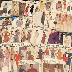 Vintage 1980's  Lot of 25 Used Sewing Patterns